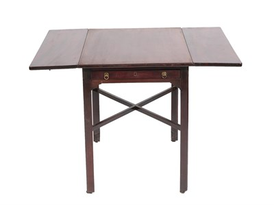 Lot 472 - A George III Mahogany Pembroke Table, 3rd quarter 18th century, with oak lined frieze drawer...
