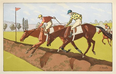Lot 1002 - Charles Ancelin (1863 - 1940)French Under starter's orders Lithograph, together with three...