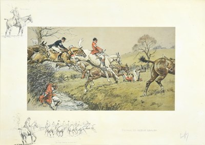 Lot 1006 - Charles Johnson Payne ''Snaffles'' (1884-1967)  ''Prepare to receive Cavalry'' Signed, with the...