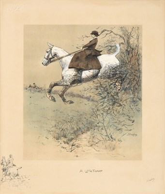 Lot 1008 - Charles Johnson Payne ''Snaffles'' (1884-1967) ''A Little Fizzer'' Signed in pencil, with the...