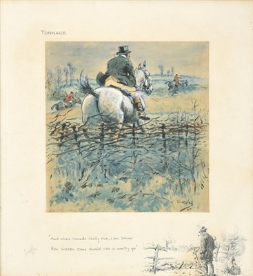 Lot 1009 - Charles Johnson Payne ''Snaffles'' (1884-1967) ''Tonnage - and when Hounds really run, can show how