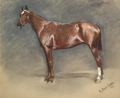 Lot 1024 - William Frank Calderon (1865-1943) ''Kildare'' Signed, inscribed and dated 1917, pastel, 49.5cm...
