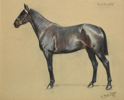 Lot 1025 - William Frank Calderon (1865-1943) ''Xerxes'' Signed, inscribed and dated 1917, pastel, 49.5cm...