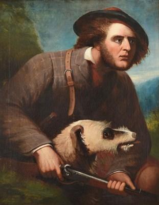 Lot 1030 - Follower of Sir Edwin Henry Landseer RA (1802-1873) Sportsman in a landscape Oil on canvas, 91cm by