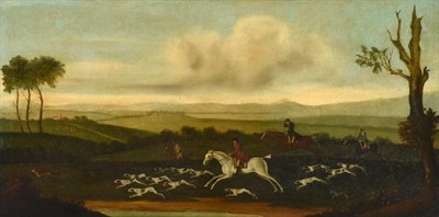 Lot 1036 - Style of John Nost Sartorius (1759-1828)  Hunt and hounds on the scent in an extensive...