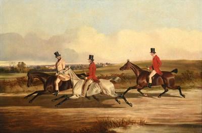 Lot 1037 - John Dalby of York (1810-1865)  Group portrait of Lord Durham, Ralph Lambton and Billy...