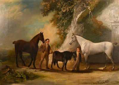 Lot 1040 - William Malbon (1805-1877) ''Charles Headlon (son of Dr & Mrs Headlon) with his pony and horses...