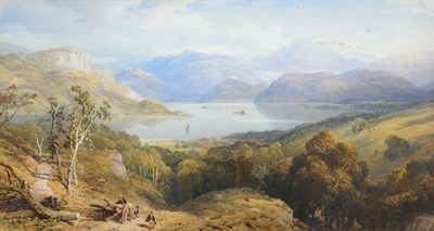Lot 1062 - Thomas Miles Richardson Jnr. (British, 1813-1890) Ullswater from Gowbarrow Park, Cumbria Signed and