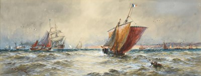 Lot 1063 - Attributed to Thomas Bush Hardy RBA (1842-1897)  Boulogne Harbour Signed and dated 1890,...