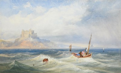 Lot 1065 - James Burrell Smith (1822-1897) Bamburgh Castle, Northumberland Signed and dated 1868, watercolour