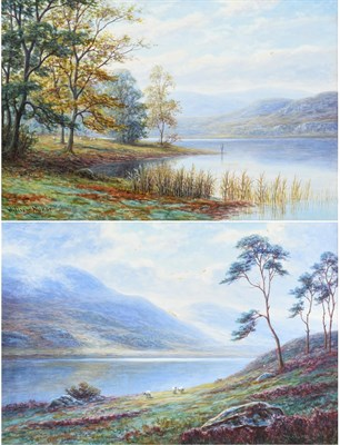 Lot 1069 - William Mellor (1851-1931) ''A bit of Rydal Water, Westmorland'' ''View in Easedale,...
