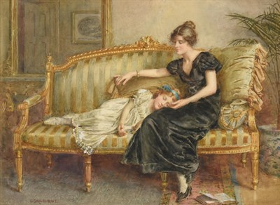 Lot 1078 - George Goodwin Kilburne RI, RBA (1839-1924) ''Tired Out'' Signed, watercolour, 26cm by 35cm...