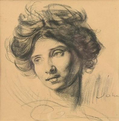 Lot 1081 - Augustus Edwin John OM, RA  (1878-1961)  Portrait drawing of Dorelia McNeill, c.1903 - 05...