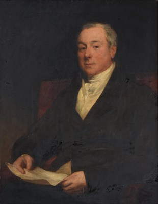 Lot 1084 - Follower of Sir Thomas Lawrence (1769-1830) Portrait of Leonard Currie of Stanlake by repute,...