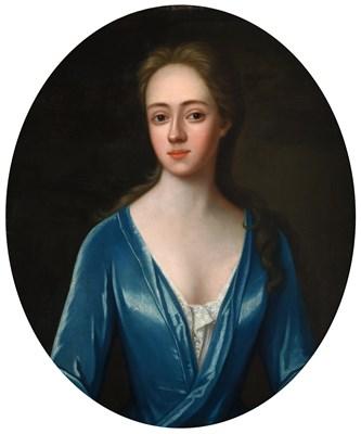 Lot 1088 - Circle of Michael Dahl (1653-1743) Portrait of an elegant lady, half length, wearing an...