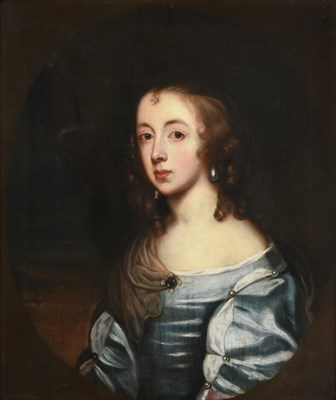 Lot 1090 - Follower of Sir Anthony Van Dyck (1599-1641) Portrait of a young lady, head and shoulders,...
