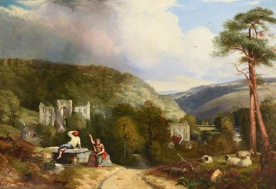 Lot 1094 - James Radford (19th century)  ''Rievaulx Abbey, Yorkshire'' Signed, inscribed and dated 1842, bears