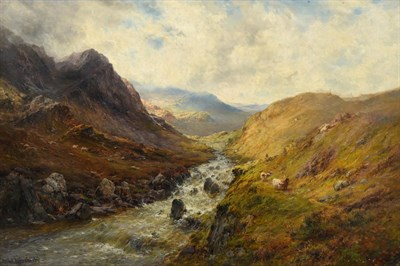 Lot 1095 - Alfred de Breanski Snr. (1852-1928) Glencoe Signed and inscribed verso, oil on canvas, 59cm by...