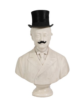 Lot 2 - Giovanni Focardi (Italian, 1842-1903): A White Marble Bust of Viscount Selby, signed and dated...