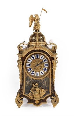 Lot 4 - A Louis XV Style ''Boulle'' Striking Bracket Clock, late 19th century, the elaborate faux...