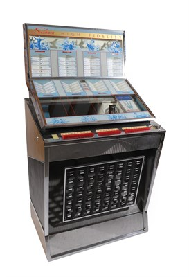 Lot 24 - A 1960's Seeburg High Fidelity Q160 Select-o-Matic Jukebox, with chromed body containing a...