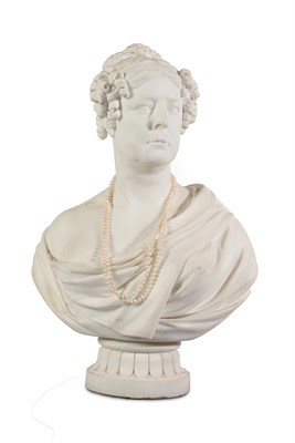 Lot 35 - Peter Rouw (1771-1852): A Marble Portrait Bust of a Lady, a member of the Thorold family, her...