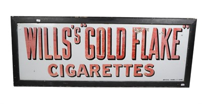 Lot 44 - A Wills's ''Gold Flake'' Cigarettes Single-Sided Rectangular Enamel Advertising Sign, stamped...