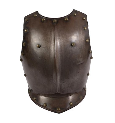 Lot 78 - An Early 19th Century Lifeguard Officer's Breastplate, with raised medial ridge, short pointed...