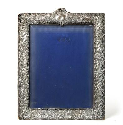 Lot 81 - An Edward VII Silver-Mounted Photograph-Frame, by Henry Matthews, Birmingham, 1902, oblong, the...