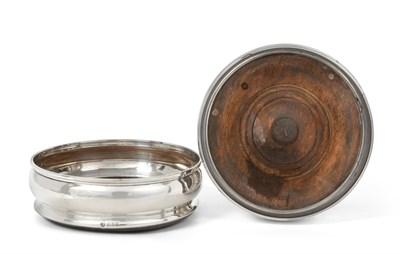 Lot 84 - A Pair of Elizabeth II Silver Wine-Coasters, by D J Silver Repairs, London, 1966, each bombé...