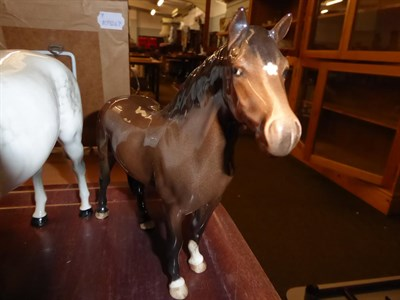 Lot 1 - Beswick horses, pigs and deer including New Forest Pony, Palomino Cob and two foals, together...