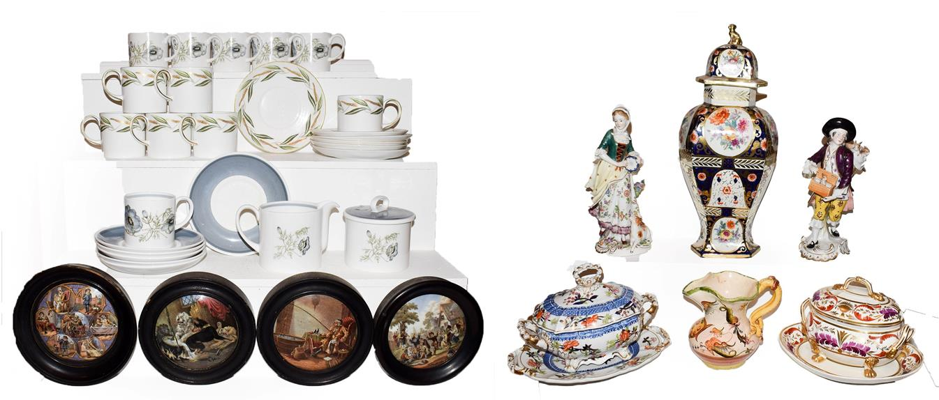 Lot 4 - Two trays of assorted pottery and china including two Susie Cooper part coffee sets, Derby and...