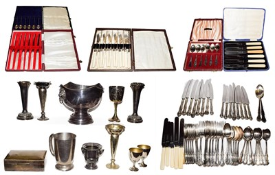 Lot 13 - A collection of assorted silver plate, including a Mappin & Webb table service, a collection of...
