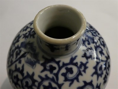 Lot 38 - Five pieces of 19th century Chinese blue and white porcelain, including a pair of meiping vases...
