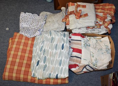Lot 54 - Two boxes of Laura Ashley curtains etc