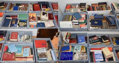 Lot 55 - Fifteen boxes of books including historical, art, literature and other reference works, novels etc