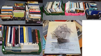 Lot 56 - Seven boxes of art reference books including works on British artists, Old Masters, maritime...