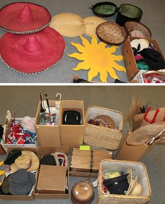 Lot 64 - A large quantity of assorted theatrical costume, props and accessories including a treasure...