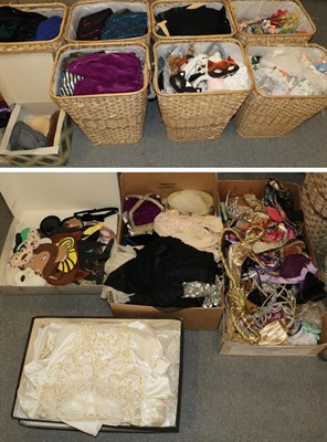 Lot 65 - Large quantity of assorted theatrical costume and accessories including tiaras, crown, wigs,...