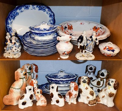 Lot 82 - A Royal Doulton part dinner service Sutherland pattern, a collection of mantel dogs including...