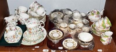 Lot 98 - Assorted china tea wares to include Minton Haddon Hall, Wedgwood Hathaway Rose, Royal Albert Albany