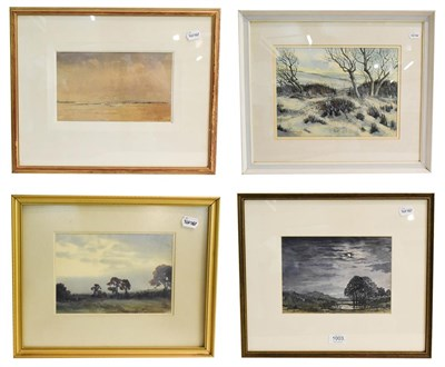 Lot 1003 - John Frederick Palmer RWA (b.1939) a Clearing Shower, signed watercolour, 16cm by 26.5cm,...