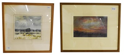 Lot 1004 - J Edward Slater RWS (British 20th century) landscape in Leicestershire, signed watercolour,...
