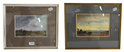 Lot 1016 - Charles Longbotham RWS (1917-1999) Welsh Mountains, signed watercolour, together with a further...