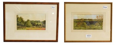 Lot 1017 - Meredith Hawes (1905-1999) Hollies Hill - Warwickshire, gouache, 12.5cm by 22cm, together with...