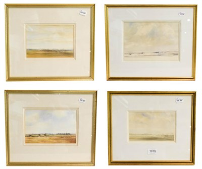 Lot 1019 - Kenneth Lauder (1916-2004) Summer Pasture, signed watercolour, 11cm by 17.5cm, together with...