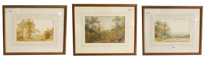 Lot 1021 - Mary Smirke (1779-1853) a Woodland Glade, signed watercolour, 17cm by 25cm, together with two...
