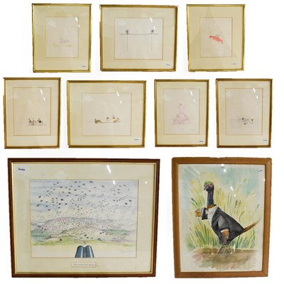 Lot 1025 - Kitty Wilkinson signed and numbered limited edition prints, together with original sporting...
