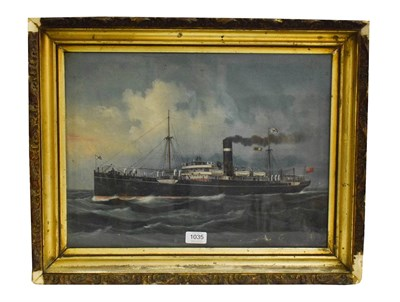 Lot 1035 - English school (early 20th century) the Montrose steamer ship, gouache on paper heightened in...