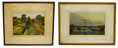 Lot 1039 - Meredith Hawes (1905-1999) Fallen Trees - Arley, signed and dated watercolour, mixed media, 28cm by